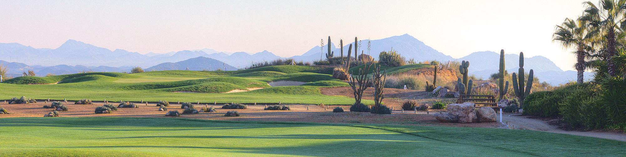The Desert Springs Golf Club's picturesque golf course in gorgeous Costa Almeria.