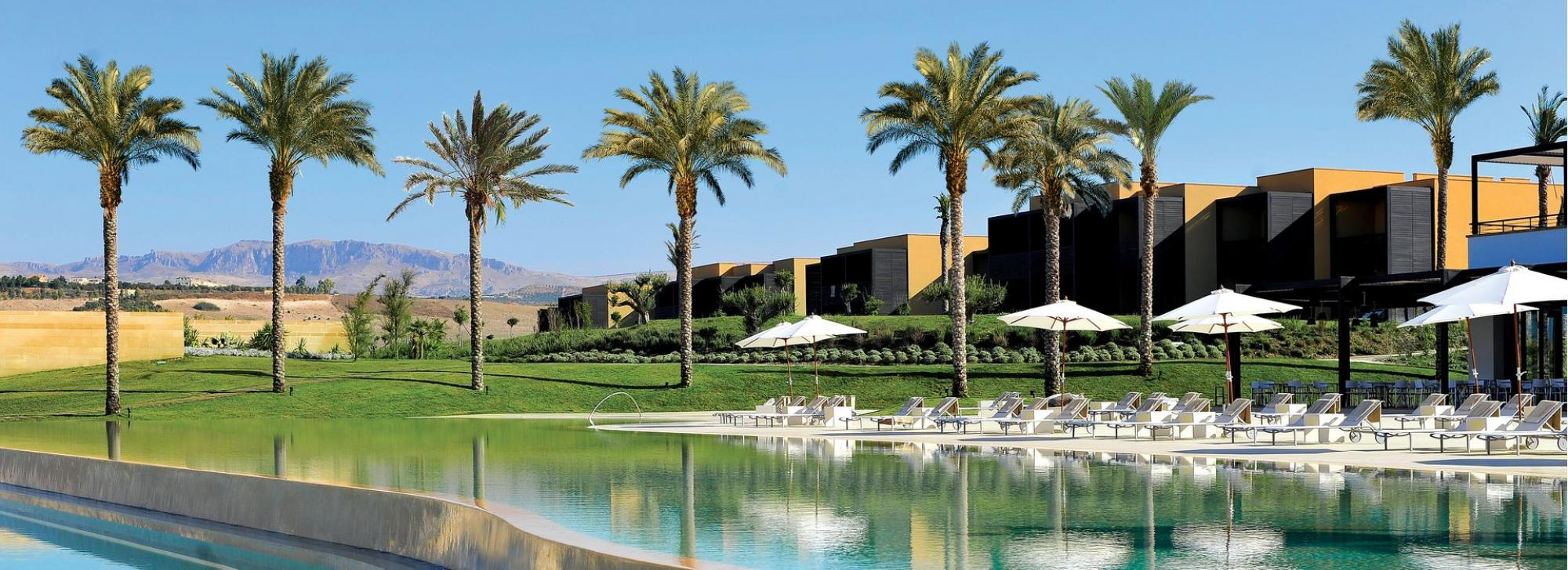 View Verdura Golf and Spa Resort's beautiful outdoor pool situated in amazing Sicily.