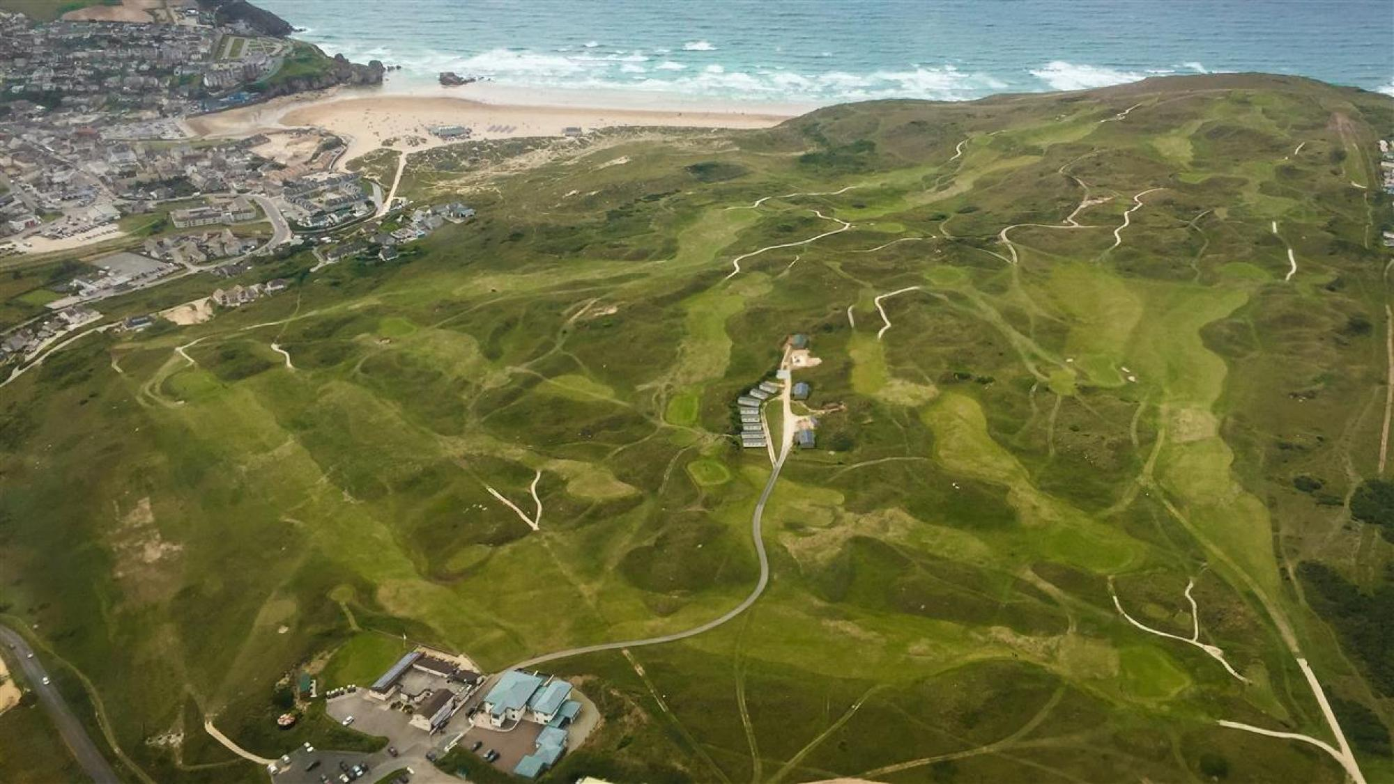 Perranporth golf course in top 100 links courses in England