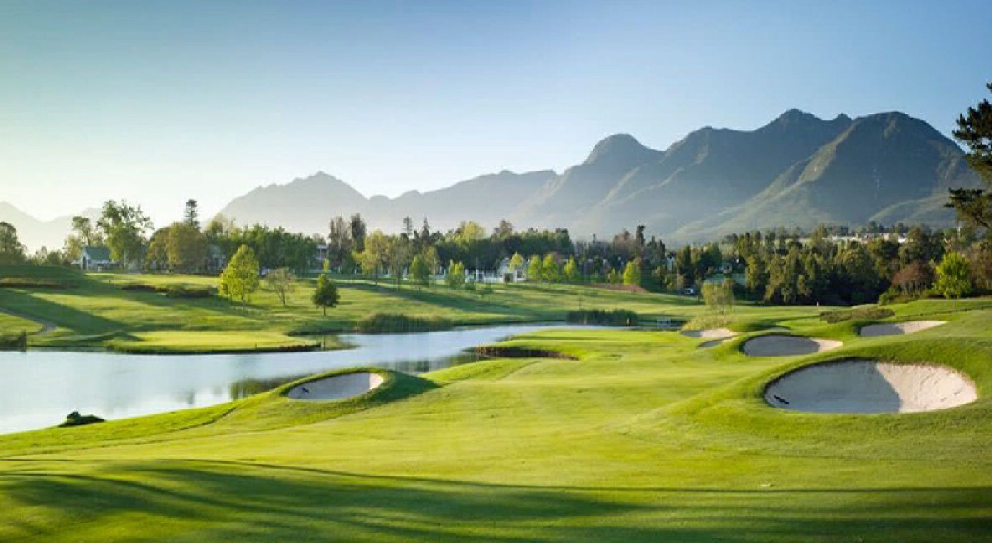 The Fancourt Outeniqua Course's picturesque golf course in stunning South Africa.