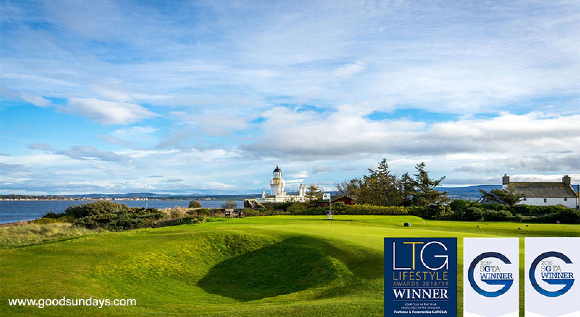 The Fortrose & Rosemarkie Golf Club's scenic golf course in gorgeous Scotland.