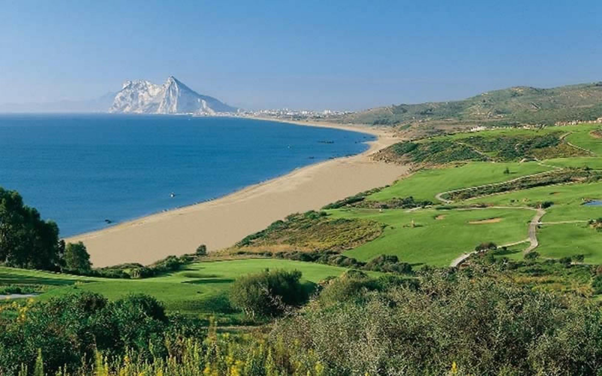 The Alcaidesa Links Course's beautiful golf course in magnificent Costa Del Sol.