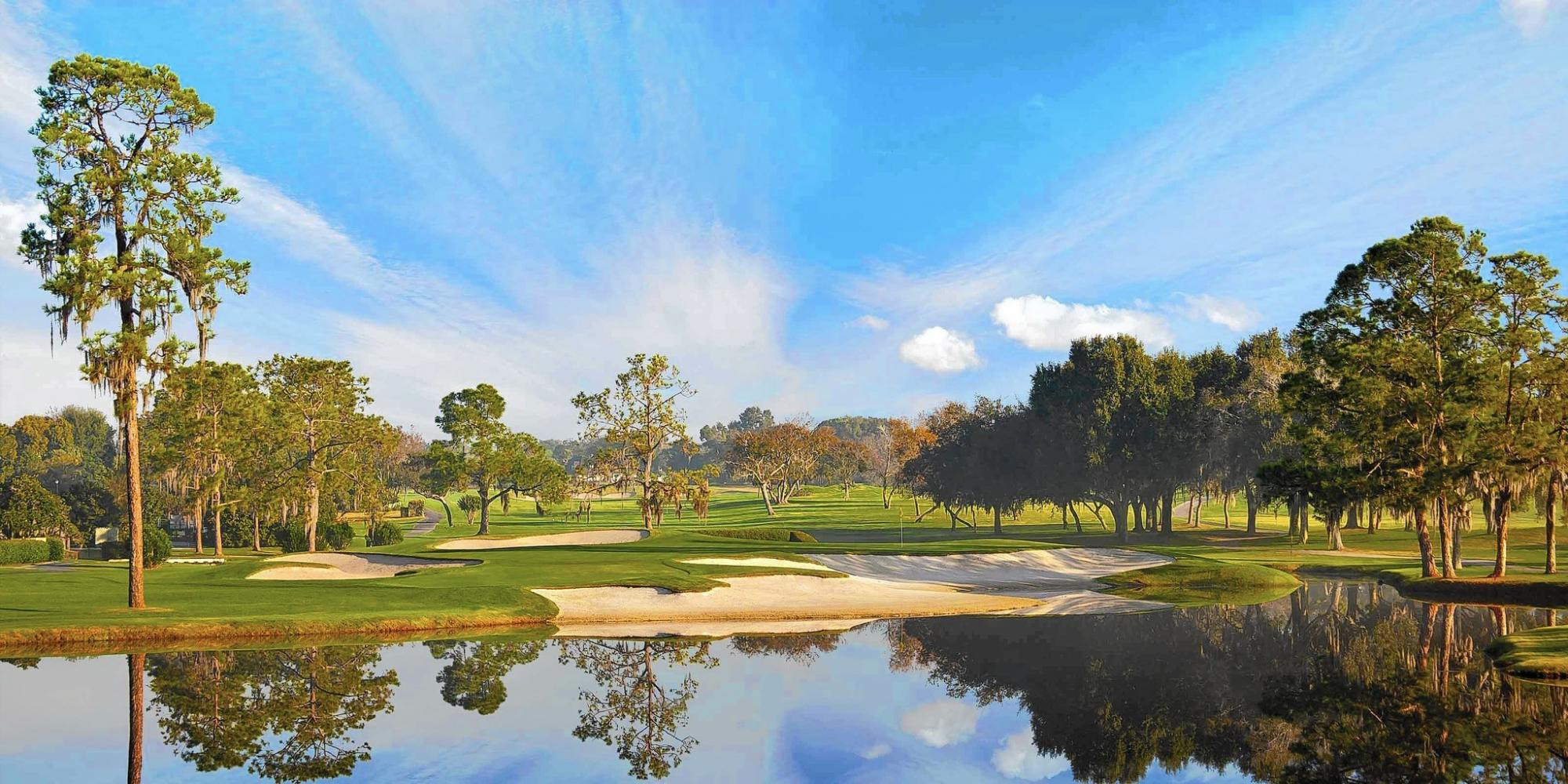 The Bay Hill Golf Club's picturesque golf course situated in incredible Florida.