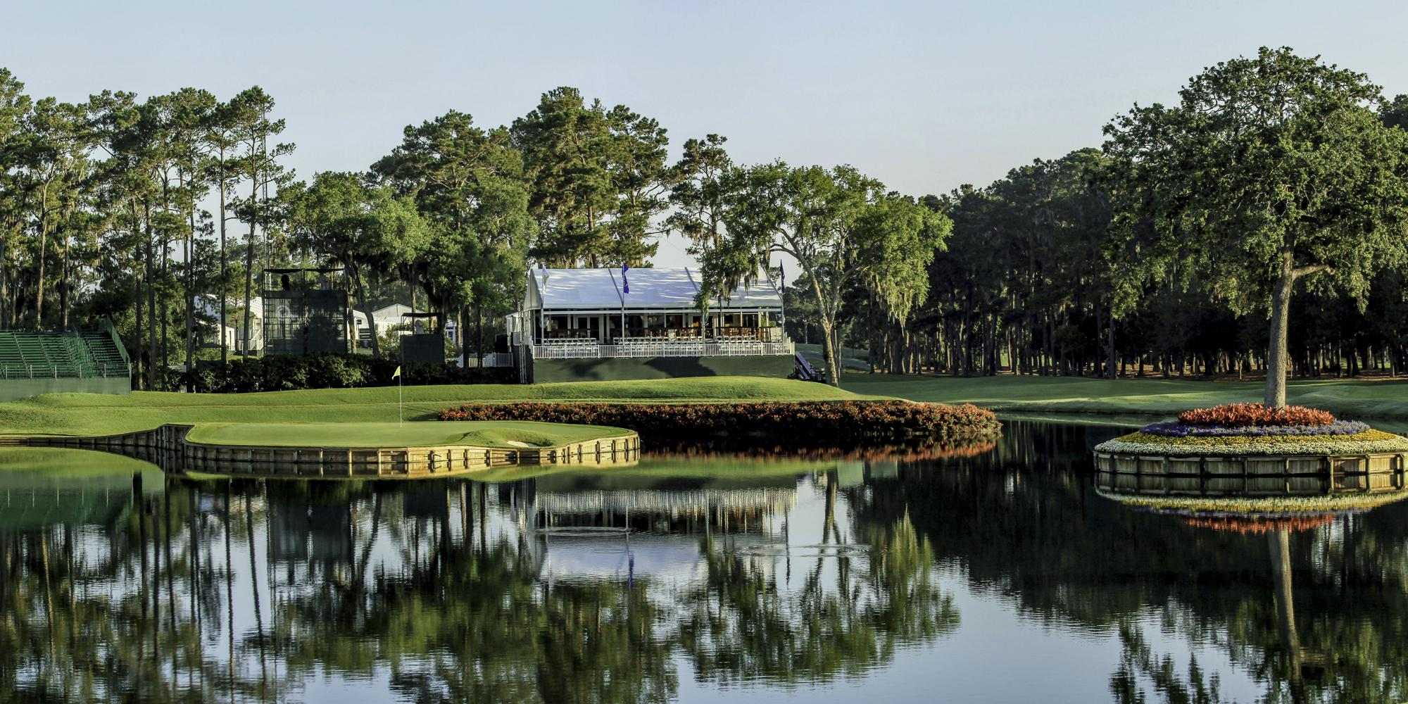 View TPC Sawgrass Golf's lovely golf course within dramatic Florida.