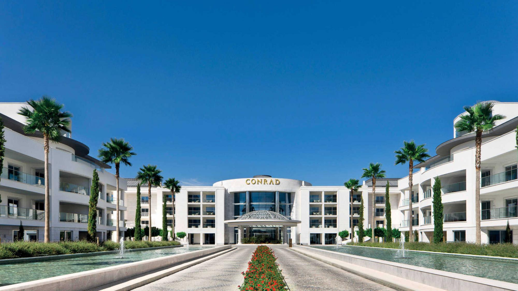 The Conrad Algarve 's impressive entrance situated in gorgeous Algarve.