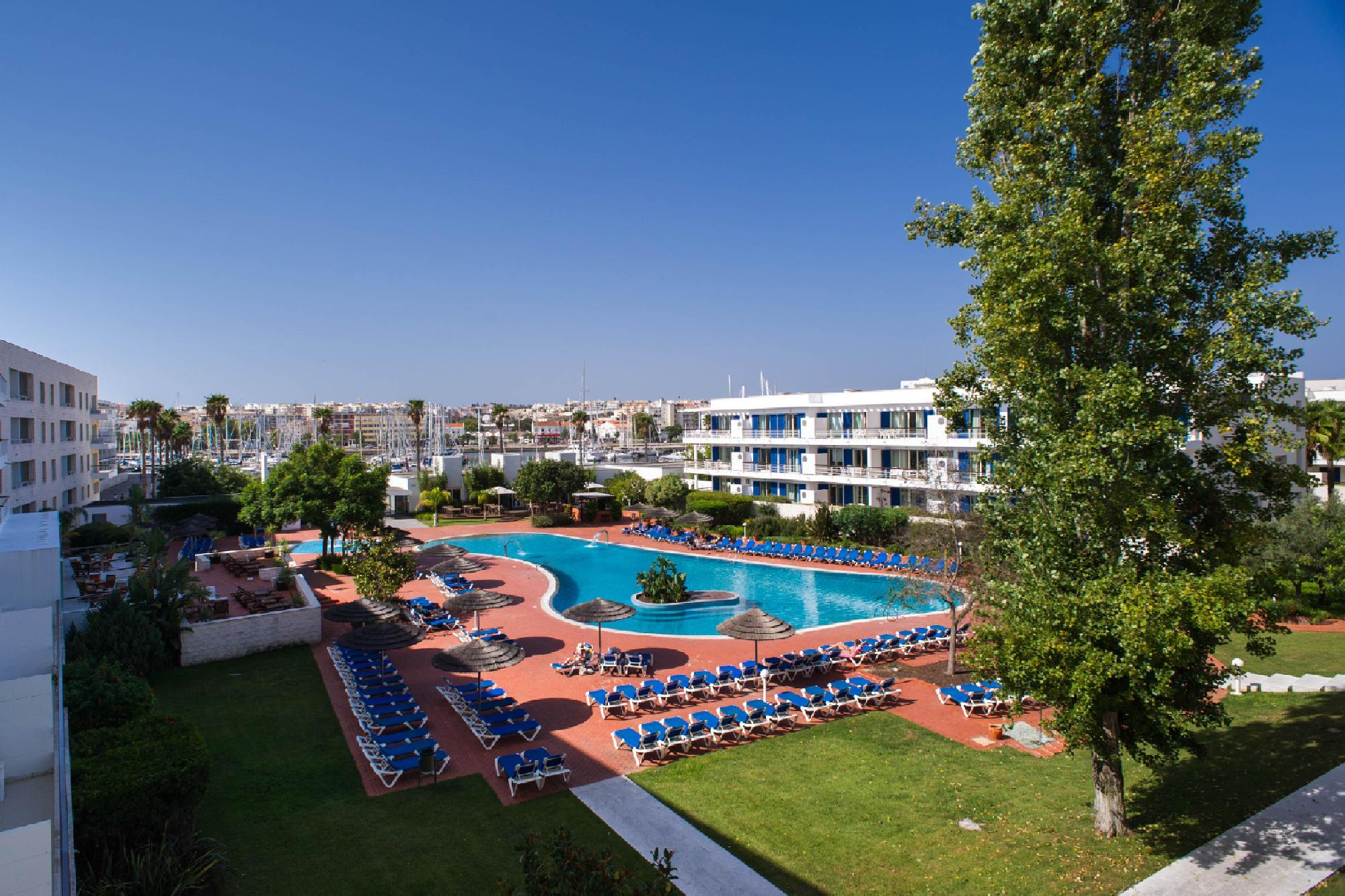 The Marina Club Lagos Resort's scenic main pool in faultless Algarve.