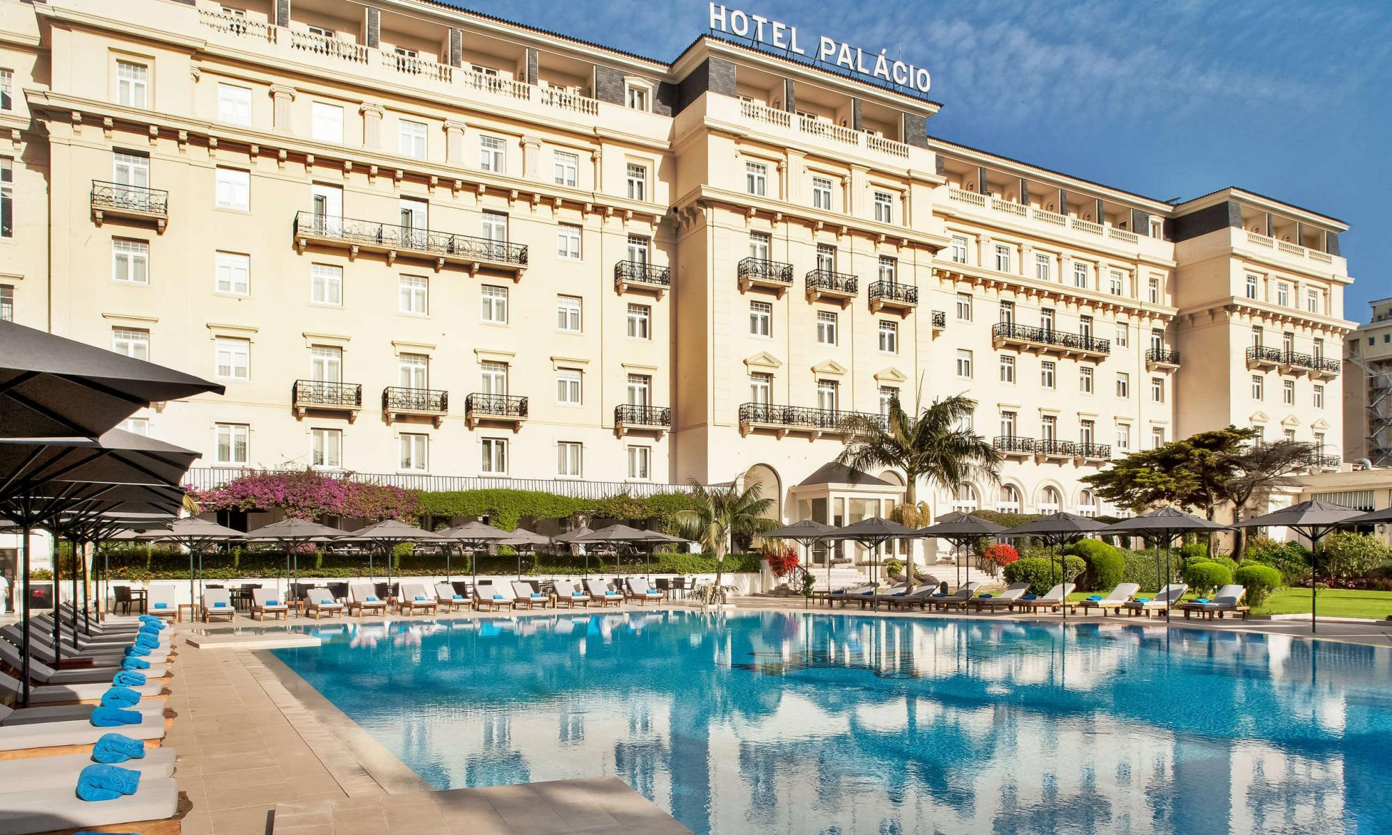 View Palacio Estoril Hotel's lovely main pool in astounding Lisbon.