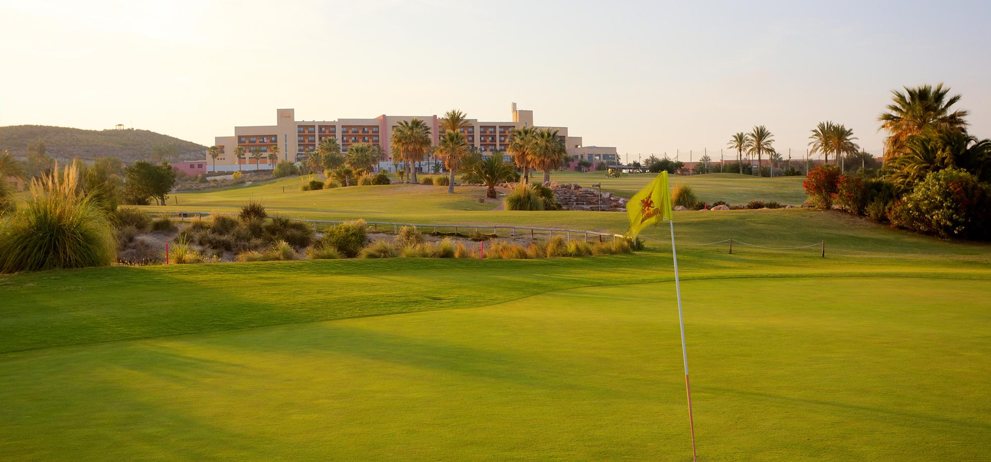 The Valle del Este Golf Course's impressive golf course situated in amazing Costa Almeria.