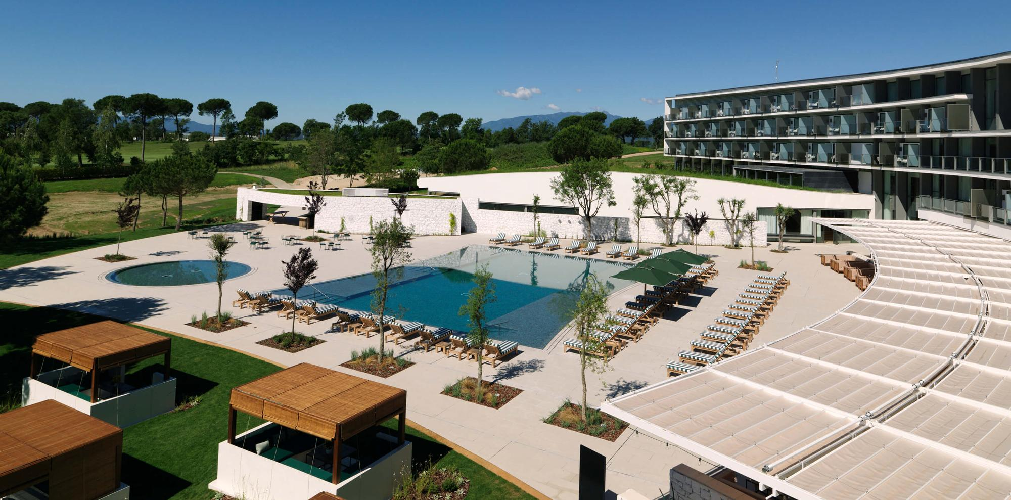 The Hotel Camiral's picturesque main pool in incredible Costa Brava.