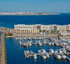 The Melia Alicante Hotel's scenic marina in sensational Costa Blanca.