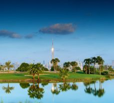 View The Track, Meydan Golf's lovely golf course within magnificent Dubai.