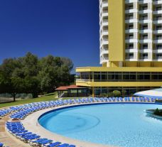 The Pestana Delfim Hotel's poolside seating within incredible Algarve.