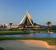 The The Track, Meydan Golf's impressive golf course within brilliant Dubai.
