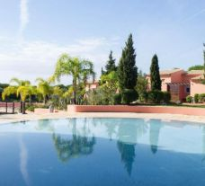 The Vila Sol Golf Resort Hotel's impressive outdoor pool in brilliant Algarve.