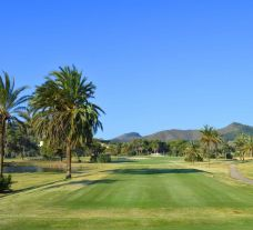 View La Manga Golf Club, South Course's picturesque 18th hole in beautiful Costa Blanca.