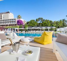 The Gran Hotel Monterrey's picturesque outdoor pool in spectacular Costa Brava.