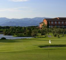 The Hotel Peralada Wine Spa  Golf Resort's scenic golf course in vibrant Costa Brava.