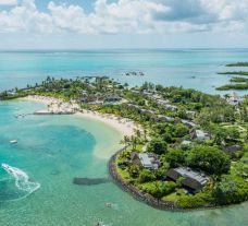 The Four Seasons Resort Mauritius at Anahita's impressive ariel view in incredible Mauritius.