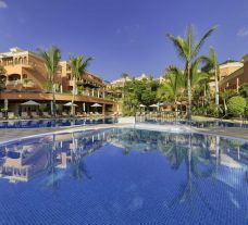 The Hotel Las Madrigueras's beautiful main pool situated in vibrant Tenerife.
