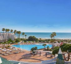 View Iberostar Royal Andalus's scenic main pool within amazing Costa de la Luz.