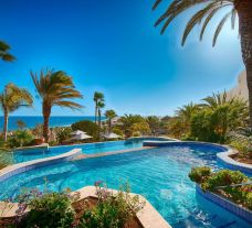 The Corallium Dunamar Hotel's beautiful main pool situated in marvelous Gran Canaria.