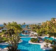 The Kempinski Hotel Bahia's impressive main pool within brilliant Costa Del Sol.