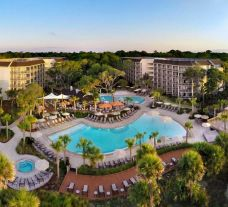 View Omni Hilton Head Oceanfront Resort's impressive main pool situated in dazzling South Carolina.