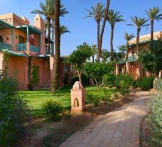The Palmeraie Village's scenic hotel in sensational Morocco.