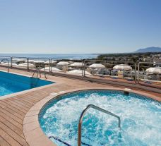 The Senator Marbella's picturesque jacuzzi in stunning Costa Del Sol.