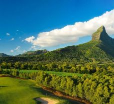 View Tamarina Golf  Spa Boutique Hotel's beautiful golf course in vibrant Mauritius.