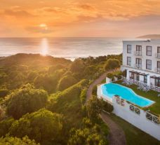 The Plettenberg Hotel's scenic sunset over the hotel situated in dazzling South Africa.