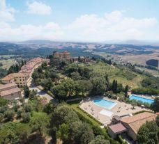 View Toscana Resort Castelfalfi's picturesque setting in dramatic Tuscany.