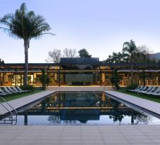 The Vineyard Hotel's lovely main pool within stunning South Africa.