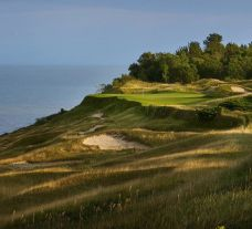 View Whistling Straits Golf Course's scenic golf course within stunning Wisconsin.