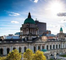 The impressive Belfast city centre situated in astounding Northern Ireland.