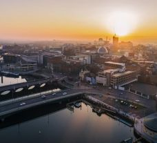 The amazing Belfast City centre located in Northern Ireland