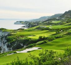 View Thracian Cliffs Golf Clubs picturesque golf course within impressive Black Sea Coast.