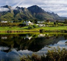 Erinvale Golf Club's impressive golf course situated in spectacular South Africa.