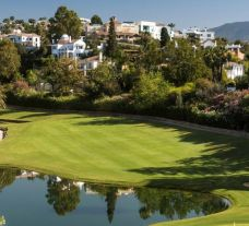 The La Quinta Golf Club's lovely golf course in dramatic Costa Del Sol.