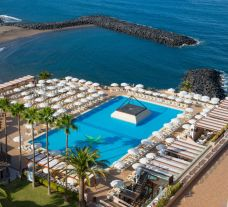 The Iberostar Bouganville Playa's picturesque sea view pool situated in stunning Tenerife.