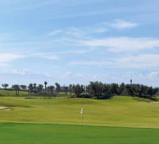 View Royal Golf Marrakech's lovely golf course within dramatic Morocco.