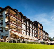 The Hotel Ermitage Evian Resort's lovely hotel situated in marvelous French Alps.