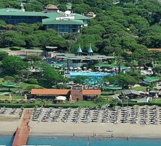an ariel view of the gloria verde resort, belek