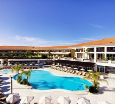 View Monte da Quinta Resort's lovely main pool in vibrant Algarve.