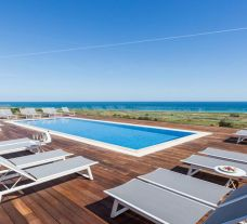 The Onyria Palmares Beach House Hotel's picturesque main pool in gorgeous Algarve.