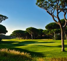 The Dom Pedro Millennium Golf Course's scenic golf course within breathtaking Algarve.