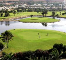 The Almerimar Golf Club's picturesque golf course situated in impressive Costa Almeria.