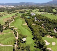The El Prat Golf Club's beautiful golf course situated in marvelous Costa Brava.