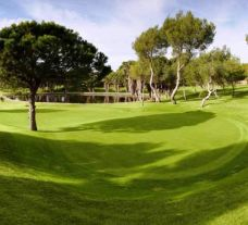 a lake behind the 12th green at las ramblas golf club
