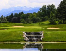 All The Evian Resort Golf Club's beautiful golf course situated in vibrant French Alps.